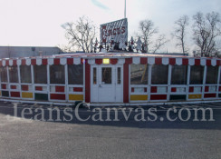 1 Custom commercial vinyl dining enclosure
