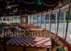 Custom commercial vinyl dining enclosure 3