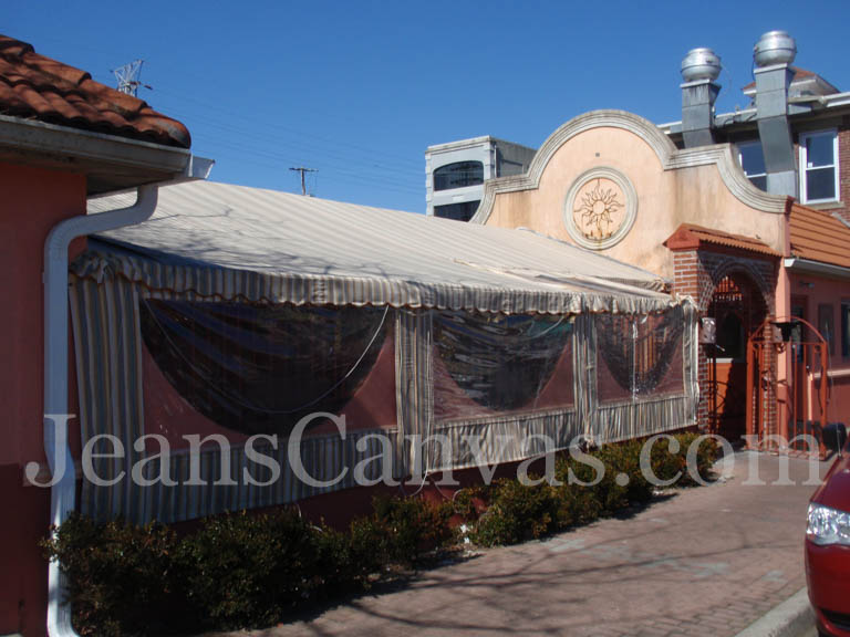 canvas custom awning 244