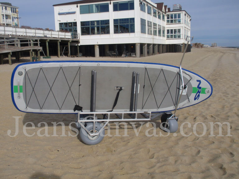 paddle board beach cart 1