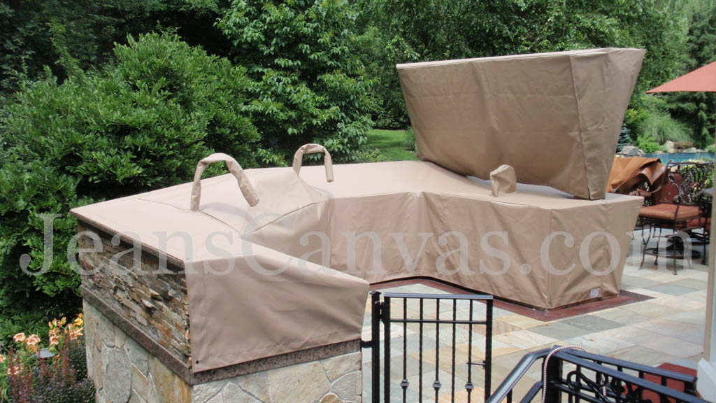 914 custom canvas outdoor kitchen cover