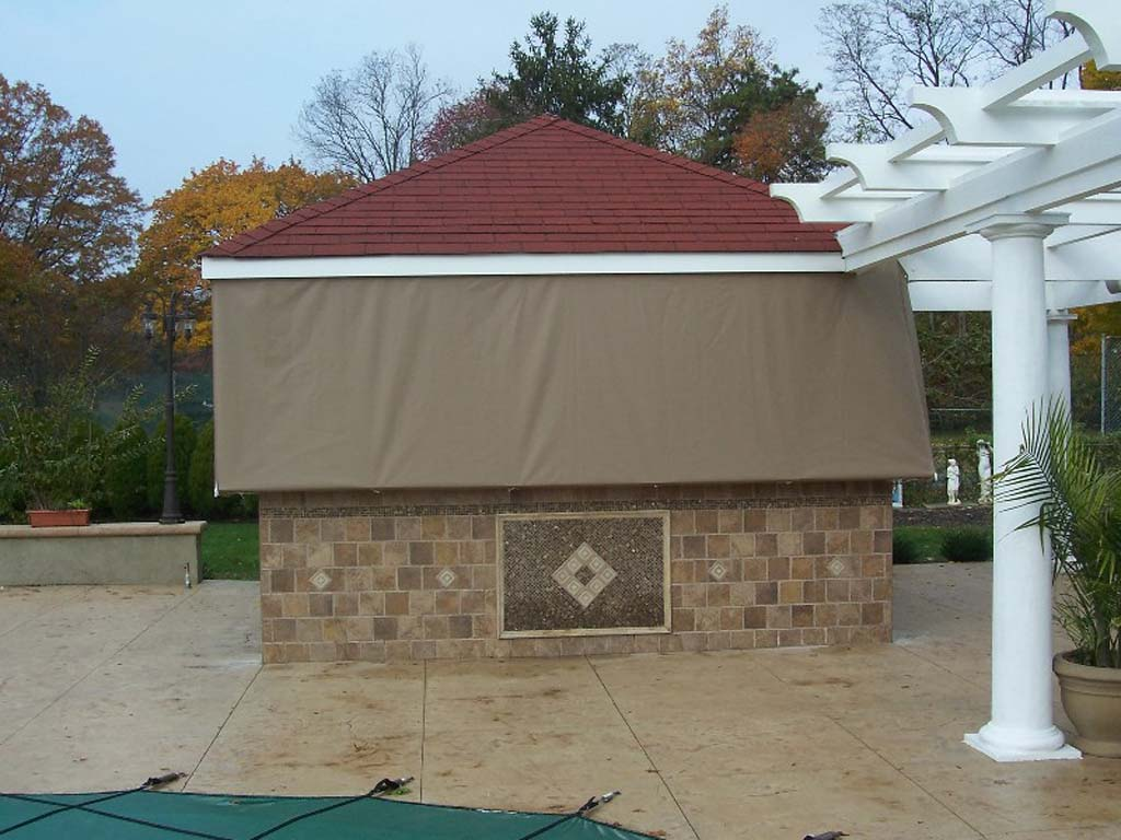 2 custom outdoor bar cover
